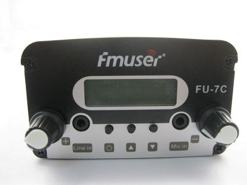 7W CZH-7C CZE-7C FU-7C FM stereo PLL broadcast transmitter 76MHz-108MHz cover 1KM-2.5KM new 1w 7w st 7c 76 108mhz stereo pll fm transmitter broadcast radio station