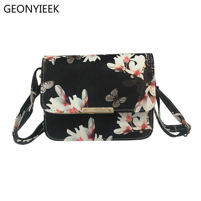 Women Floral leather Shoulder Bag Satchel Handbag Retro Messenger Bag  Famous Designer Clutch Shoulder Bags Bolsa 59bdaeb718