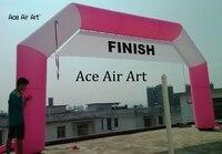 Настраиваемые Розовый 10X4 м надувные арки для ралли challege, марафон открытый гонка арки для спортивных мероприятий