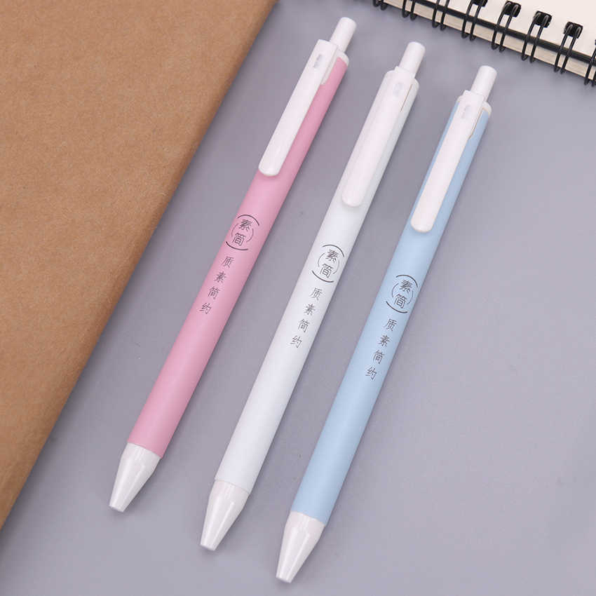 1 قطعة 0.7 مللي متر الأزرق عبوة قلم البلاستيك الصحافة أقلام الكتابة اللوازم المكتبية طالب امتحان الغيار للجنسين OG-5973