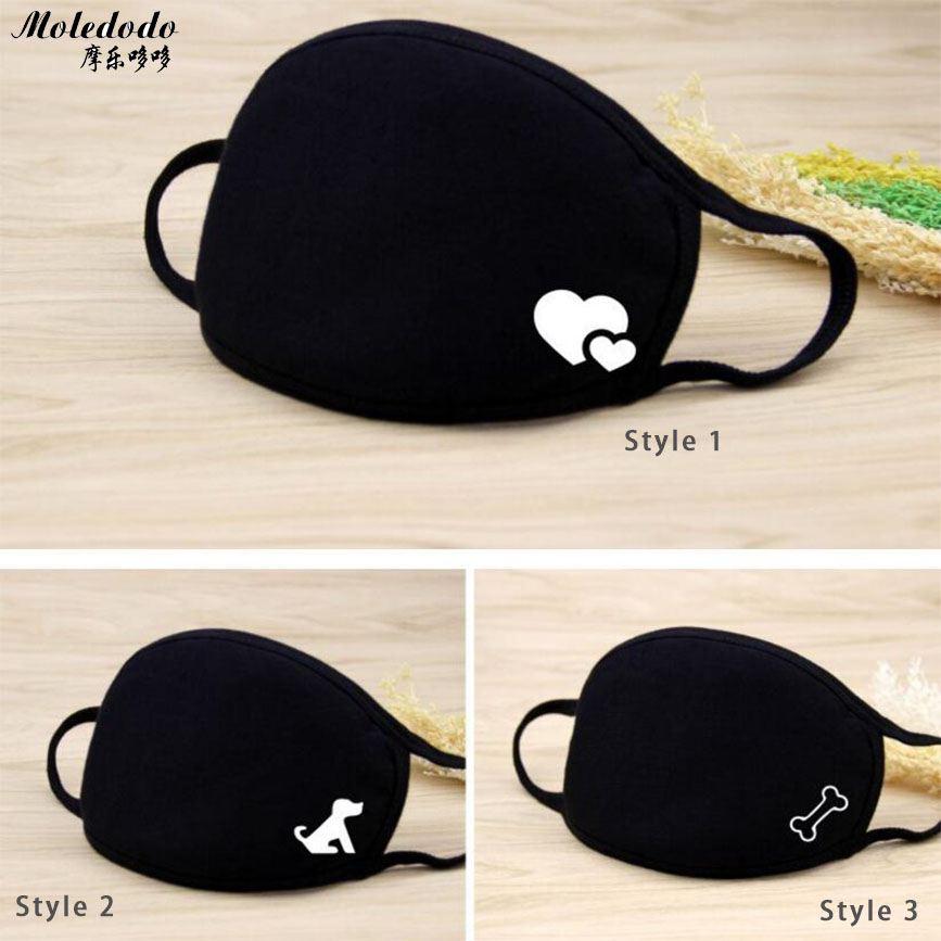 Moledodo 1PC Winter warm Mouth mask 18 Styles men and women new Cotton fashion Black riding dust cold thickening mouth mask D50 in Masks from Beauty Health