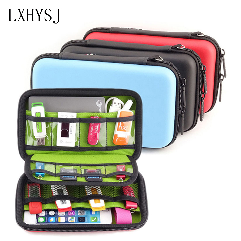 Fashion Mobile Kit Case High Capacity  Digital Gadget Devices USB Cable Data Line Travel Insert Portable Bag Travel accessories gadget