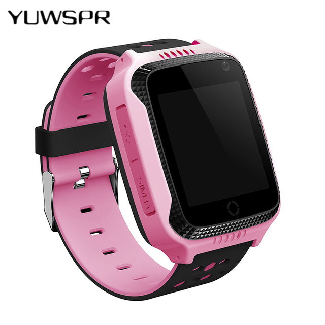 hot GPS tracking watch for kids Flashlight child Camera touch Screen SOS Call Lo