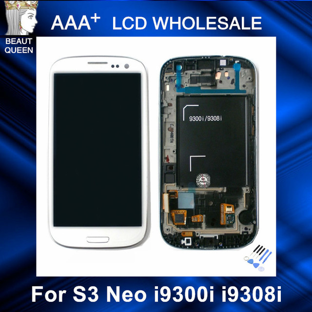 For Samsung Galaxy S3 Neo i9300i i9301 i9301i i9308i Phone LCD Replcement Touch Screen Digitizer with Frame Assembly