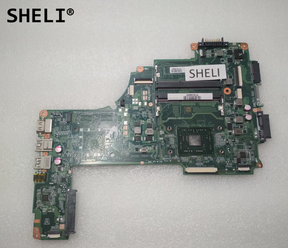 SHELI For Toshiba C55DT C55DT-C Motherboard with A4-7210 cpu DA0BLTMB8F0 A000390300 new 15 6 for toshiba satellite c55dt a5241 c55dt a5306 c55dt a5307 c55dt a5106 c55dt a5305 touch screen glass panel digitizer