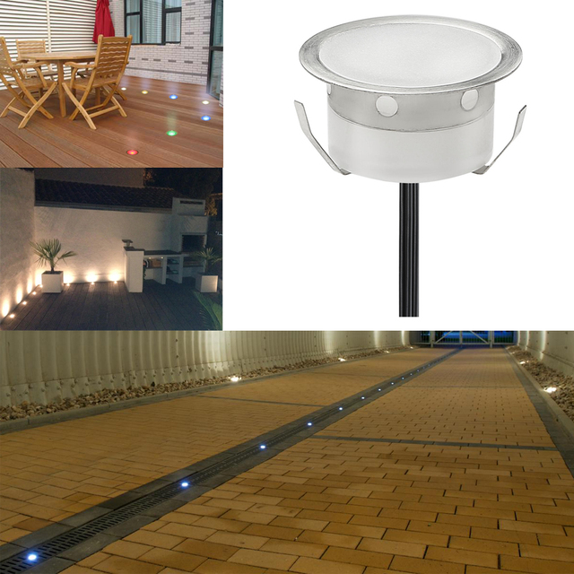 Outdoor Colour Changing Remote Controlled LED Garden Decking Lamps Stair  Lighting Kit 30pcs Underground Light