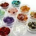 3D 12 Цветов Nail Art Стразы Украшения Аксессуары Природного Нефрита Камень Ногтей Поставляет Инструменты