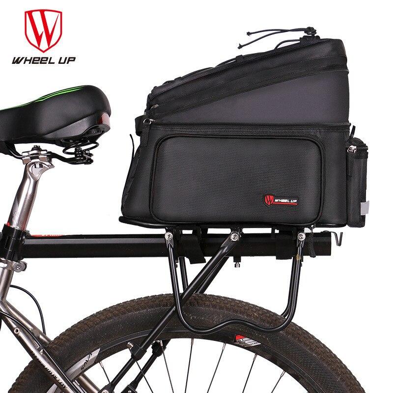 Bicycle Rear Rack Bag Pannier Bag Trunk Pack Shoulder Bike Cyclist Waterproof