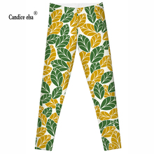 2016 Fashion Plus Size Sexy Extra-terrestrial Digital Printing Fitness LEGGINGS S-4XL Drop Shipping with new leaves