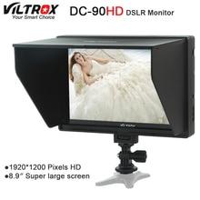 Viltrox DC-90 HD 8,9 »Супер большой Экран 4 К ips ЖК-дисплей HDMI AV Вход Камера видео монитор Дисплей для canon цифровых зеркальных фотокамер Nikon BMPCC