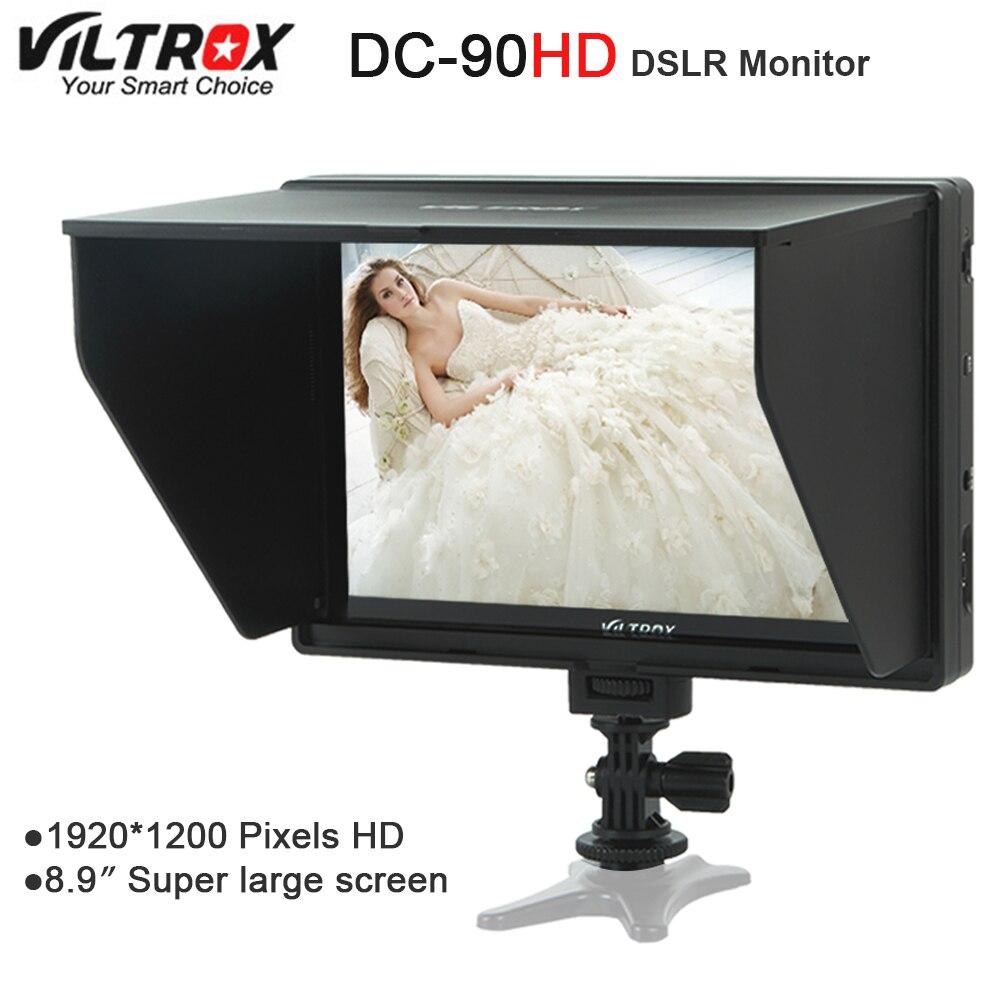 Viltrox DC 90 HD 8.9 ''Super duży ekran 4K IPS LCD HDMI wejście AV aparatu ekran wideo wyświetlacz dla Canon lustrzanek cyfrowych firmy Nikon BMPCC w Akcesoria do studia fotograficznego od Elektronika użytkowa na  Grupa 1