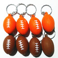 Fashion Sports Vivid Soft Foam PU Rugby Ball Key Chain Orange Coffee Romantic Boutique Car Accessories Keyring Bag KeyRing Gifts