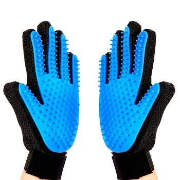 Nuevo guante para mascotas, juguetes, removedor de pelo, Mitt, cepillo de desodorización suave y herramienta de masaje para perros, gatos, caballos, productos para mascotas