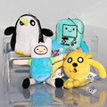 4 Styles Adventure time Plush Pendant Keychain Toys Jake Finn Beemo BMO Penguin Gunter Stuffed Animals Plush Dolls Soft Toys