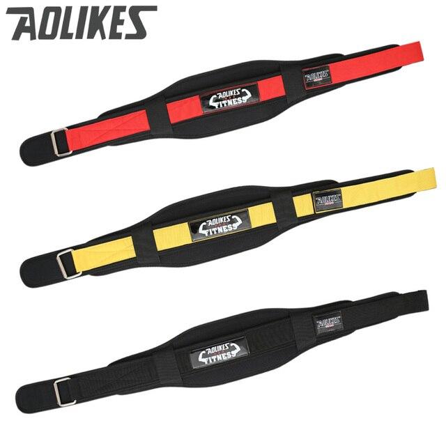 AOLIKES Men Waist Support Belt Sport Pressurized Weightlifting Bodybuilding Fitness Squatting Training Lumbar Back Support Gear 2