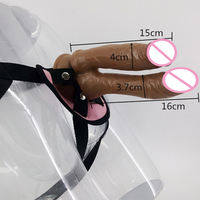 Double head Strap on Dildo Sex Products Strapon Dong Harness Strap on Penis for Women Vagina/Anal Lesbian Strap on Sex toys