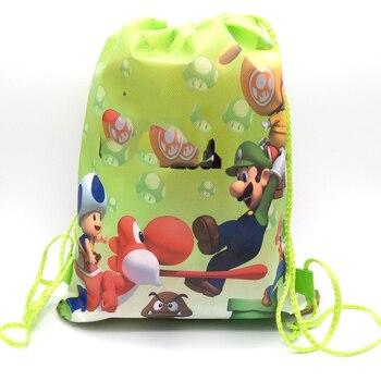 Bolsas de regalo para fiesta de feliz cumpleaños Super Mario Mochila de...
