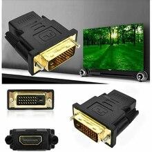 Cable ale a hembra HDMI a DVI convertidor DVI 24 + 1 a HDMI adaptador para Monitor HDTV proyector