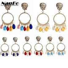 Fashion Shell Statement Earrings For Women Dangle Boho Jewelry Wedding Party ZA Pendant Earings Charms Bijoux Brincos 2019 new
