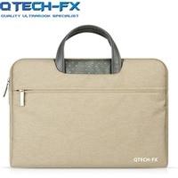 Canvas Laptop Sleeve Bag Men OR Women handbag 13.3141515.6 For Apple Macbook air QTECH Lenovo HP Notebook Case Computer Gray