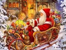 Santa Claus 5D DIY Diamond Painting Full Square  Mosaic Sale Cartoon Embroidery Christmas Gift Home Decor
