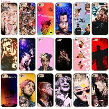 Lavaza XXXTENTACION Lil Peep Lil Bo Peep Rap Singer Hard Case for Apple iphone 7 8 Plus 5s 5 SE 6 6s 7 8 X Case mariposa en plata anillo