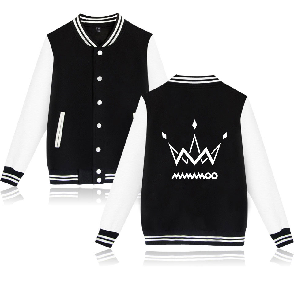 MAMAMOO print Fashion Baseball   Jacket   hip hop   Basic   comfortable Popular Casual High Quality Street Long Sleeve Baseball   Jacket