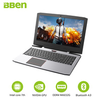Bben Gaming Laptops Intel Core I7 7700HQ 15 6 IPS 1920x1080 Screen 32GB RAM SSD128G 256G