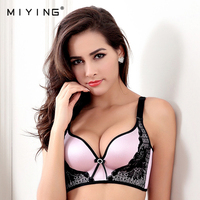 MIYING 2017 New Bra V Shape Push Up Solid Sexy Embroidery VS Style Women S Underwear