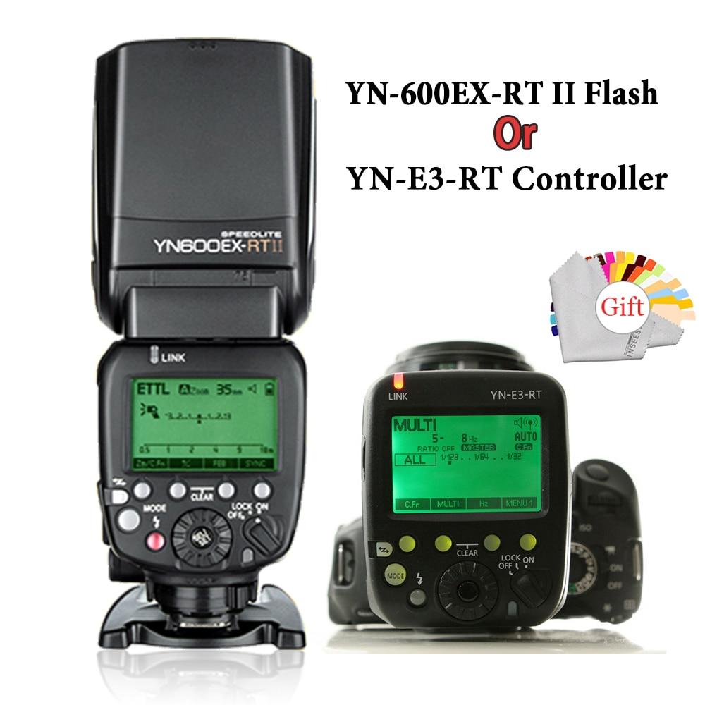 YONGNUO 2.4G YN600EX-RT II Wireless Auto TTL HSS Flash Speedlite+YN-E3-RT Controller for Canon 5D3 5D2 7D Mark II 6D 70D 60D yongnuo yn560 tx wireless flash controller and commander yn 560tx for yn560 iii yn 560 iv for canon 60d 70d 7d 6d 700d 5d2 5d3