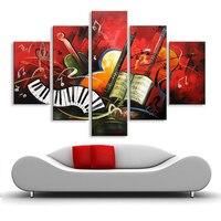 Pittura a olio Astratta musica pittura a olio dipinto a mano pittura a olio soggiorno camera da letto ristorante uso Decorativo DY-