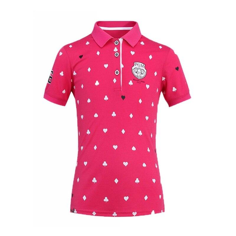 Filles haute qualité Golf Jersey respirant Badminton hauts enfants à manches courtes col montant Tennis chemises AA51875