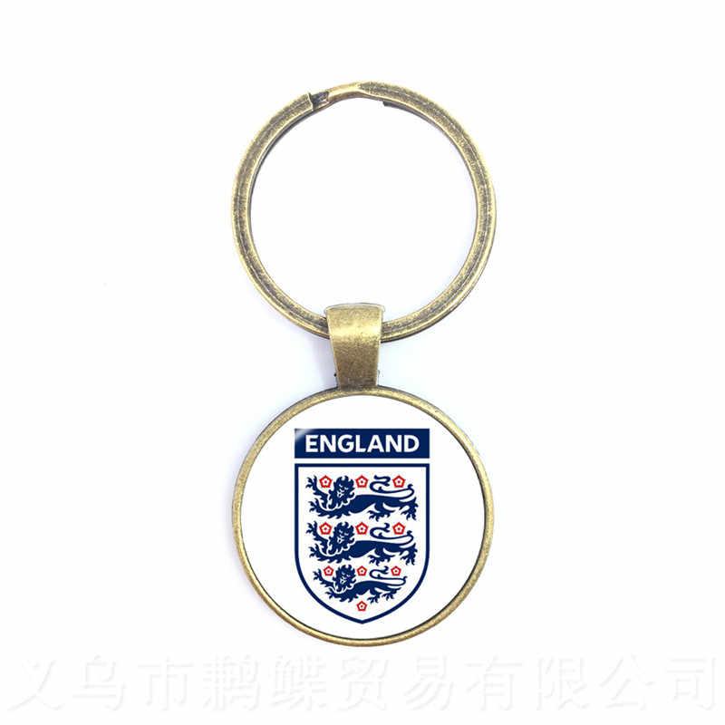 A sérvia, Suíça, Suécia, Inglaterra, logotipo Da Equipe de Futebol Nacional irã Anéis Chaveiro Titular Fãs Souvenir Presente Para Mulheres Dos Homens