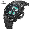 2017 BINZI Luxury Brand Mens Sport Watch Digital LED Military Waterproof Watch Men Fashion Casual Electronics Wristwatches Clock