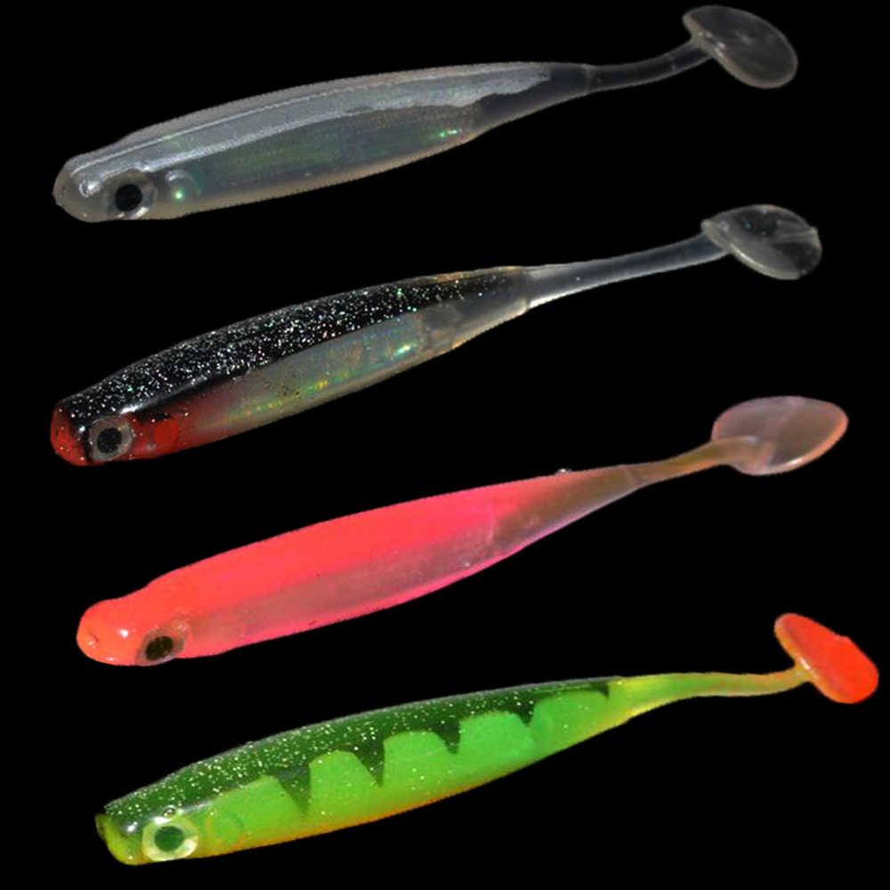 ZXZ 3 unids/lote 10cm Wobblers Señuelos de Pesca Easy Shiner Swimbait silicona suave cebo carpa de dos colores señuelos suaves artificiales