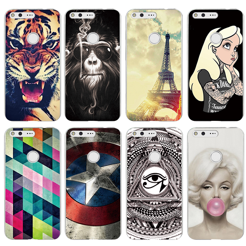 Cover For Google Pixel Case Coloured Drawing Hard Plastic Protective Back Fundas For Google Pixel Phone Cases