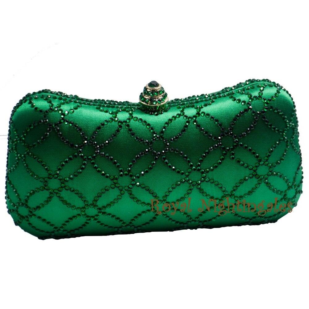 Flower Emerald Dark Green Rhinestone Crystal font b Clutch b font Evening Bags for font b