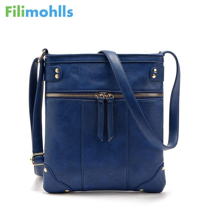 2018 Fashion Double Zipper Women Messenger Bags High Quality PU Shoulder Bag Crossbody European Vintage Women Small Bag S1368