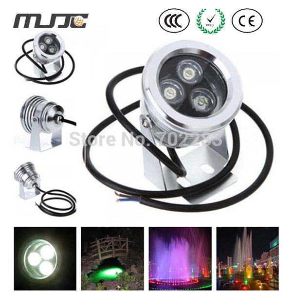 Stainless Steel 12V DC 9W Submersible Underwater Koi Pond LED Lights IP65 Red Yellow Blue Green Warm Cool White Outdoor Lamp