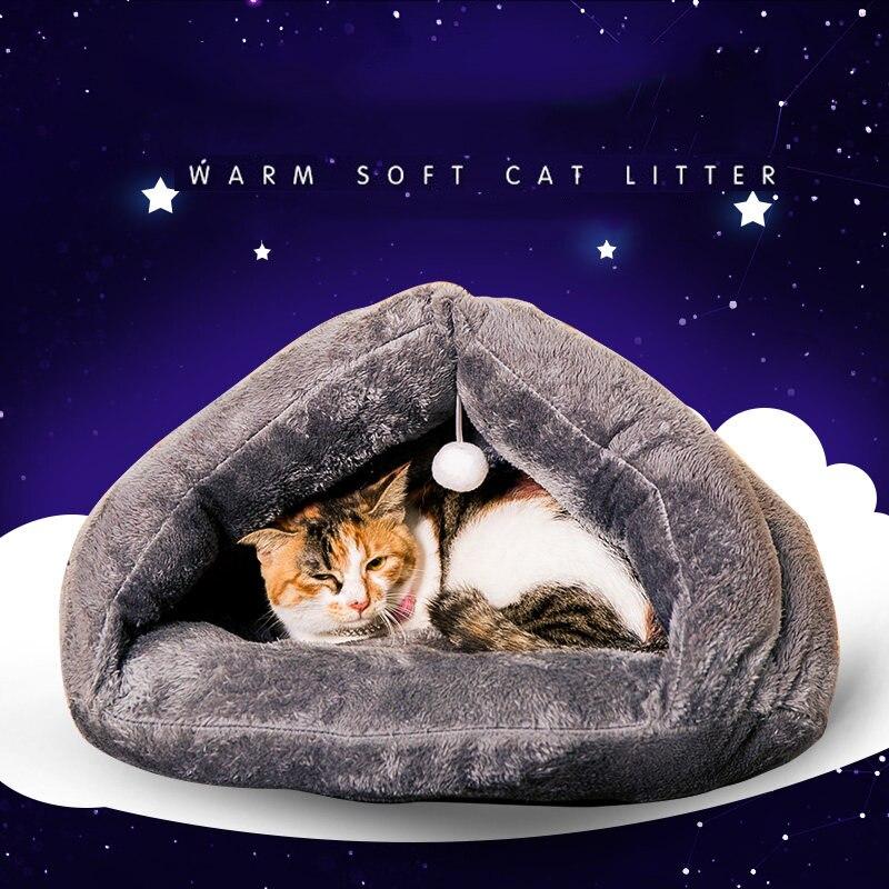 Kočičí vrh pes chovatelské stanice medvídek kočičí spací pytel čtyři roční období kočičí dům domácí mazlíček postel pro kočky mat měkký a pohodlný trojúhelník