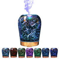 IVYSHION 1PC Air Purification Hunidifier For Home Office Seven Color Household Aromatherapy Essential Oil Diffuser