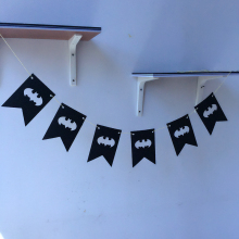 Freeshipping Batman Partys 3 Meter Felt Banner 2 Corner Flag Birthday Party Decoration Bunting supply fabric
