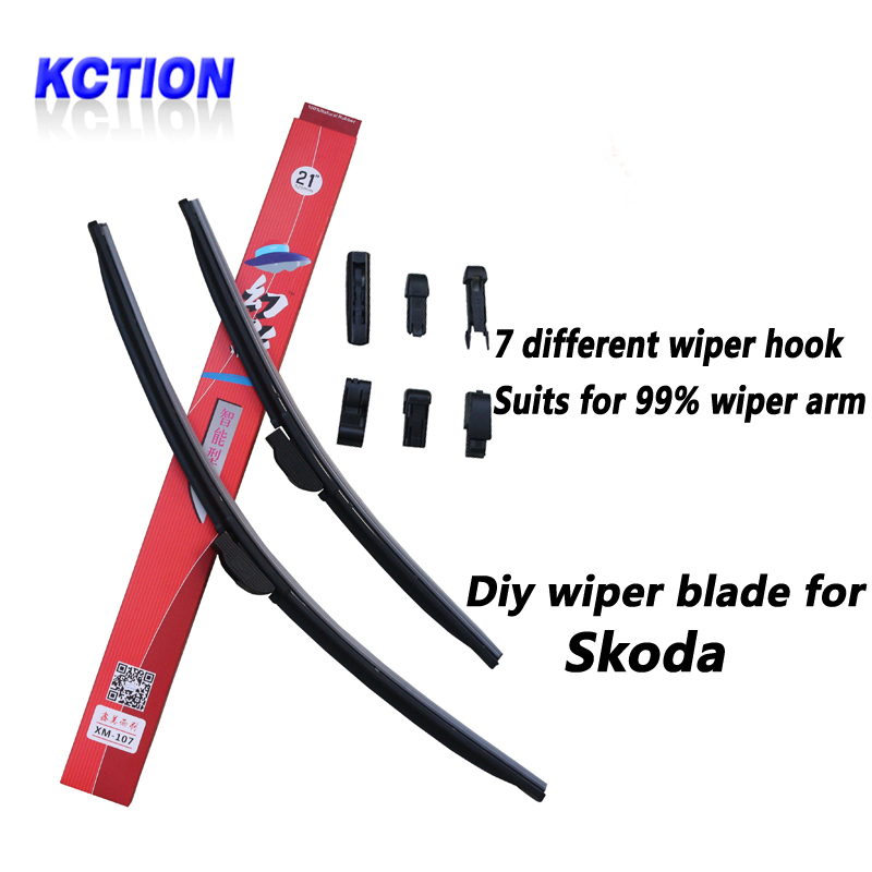 Car Windshield Wiper Blade For Skoda Superb OCTAVIA Fabia Rapid Yeti Citigo Brush Bracketless Natural Rubber