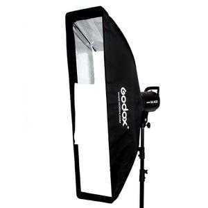 """Image 2 - Godox softbox de 22x90cm 9 """"x 35"""", retangular portátil, softbox de colmeia caixa com bowens montar para studio flash"""