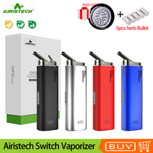 Original Electronic Cigarette Airistech Airis Switch Dry Vaporizer 2200mAh Battery Ceramic Chamber Vape Pen for herb wax
