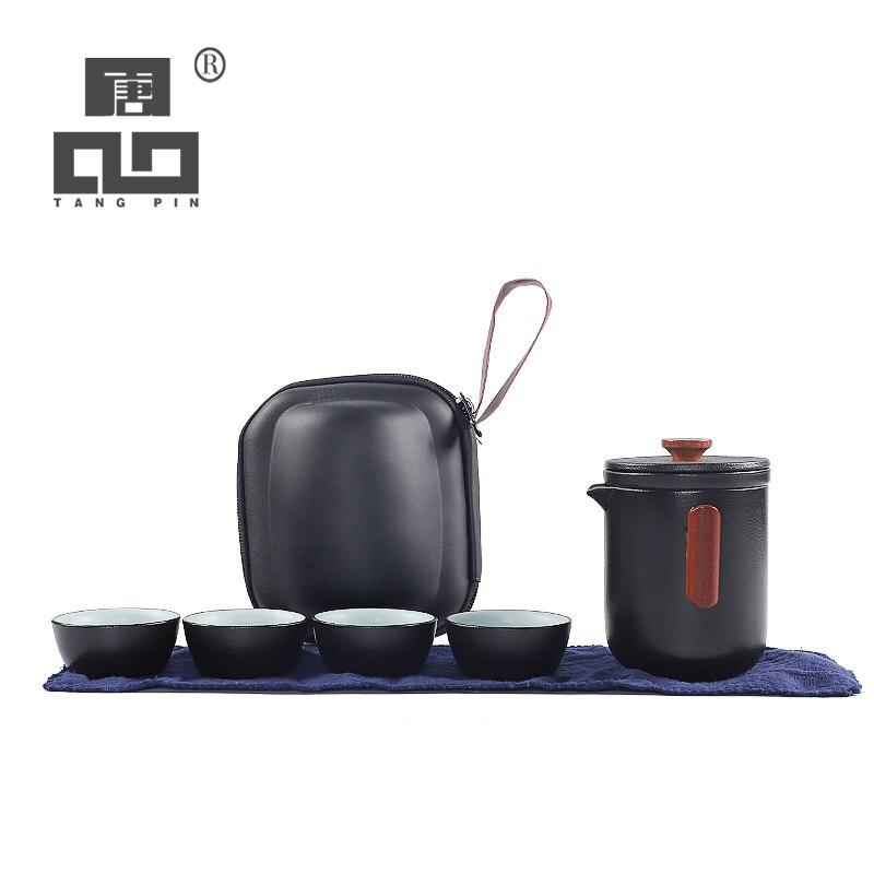 Thé en céramique TANGPIN théière tasses chinois un ensemble de thé portable voyage ensemble de thé avec sac