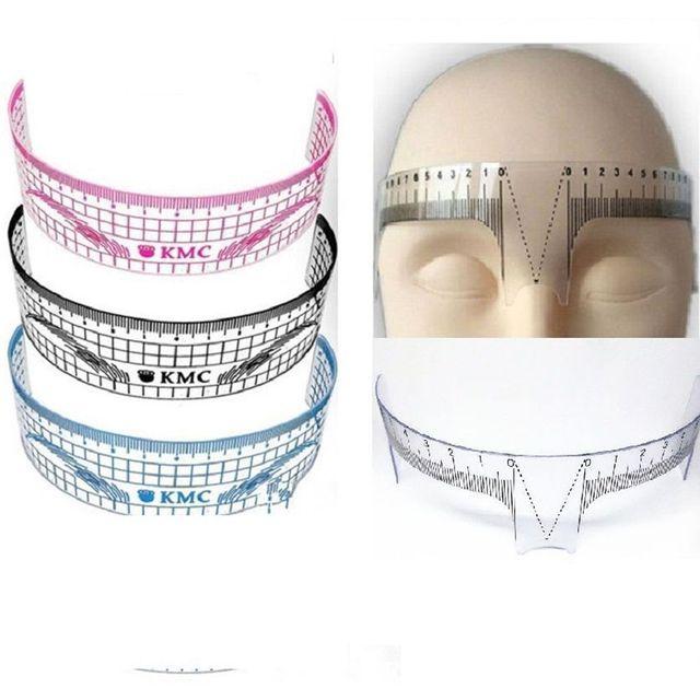 Nuevas plantillas de tatuaje de cejas de plástico Microblading reutilizable maquillaje ceja medida guía regla herramientas permanentes