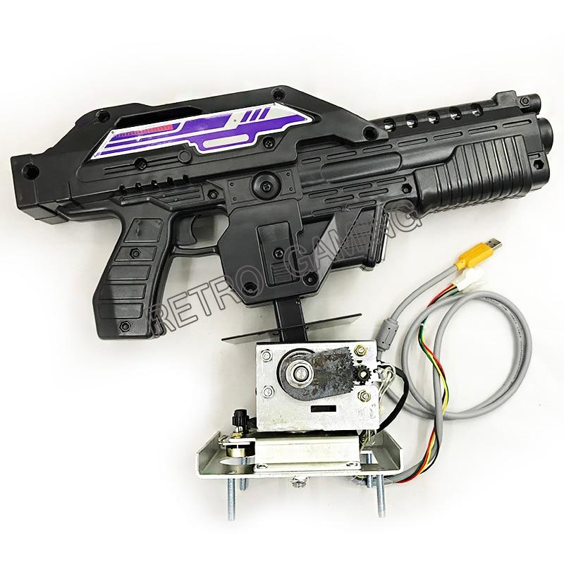 Gun For Aliens Extermination Shottting Machine Shooting Game Gun For Pc Motherboard Converting Aliens Video Arcade Game Machine
