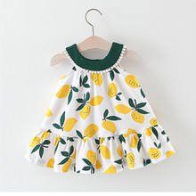 Baby Girls Dress Summer New Fashion Baby Dresses 0-3 Years O