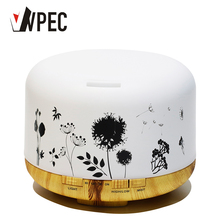 VVPEC 500ml Pattern Wood Base aroma diffuser Essential Oils for aromatherapy diffusers home office